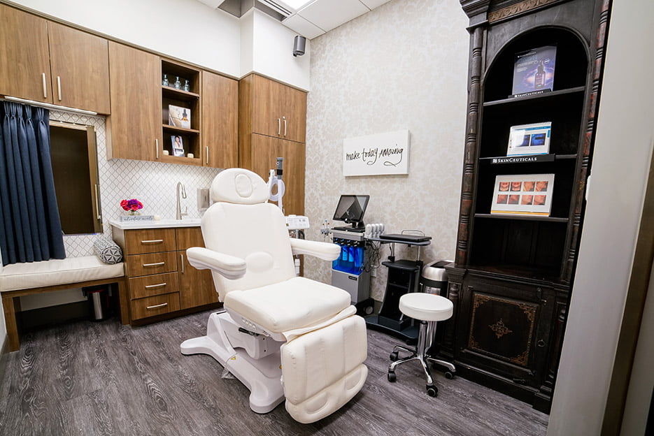 laser hair removal treatment room