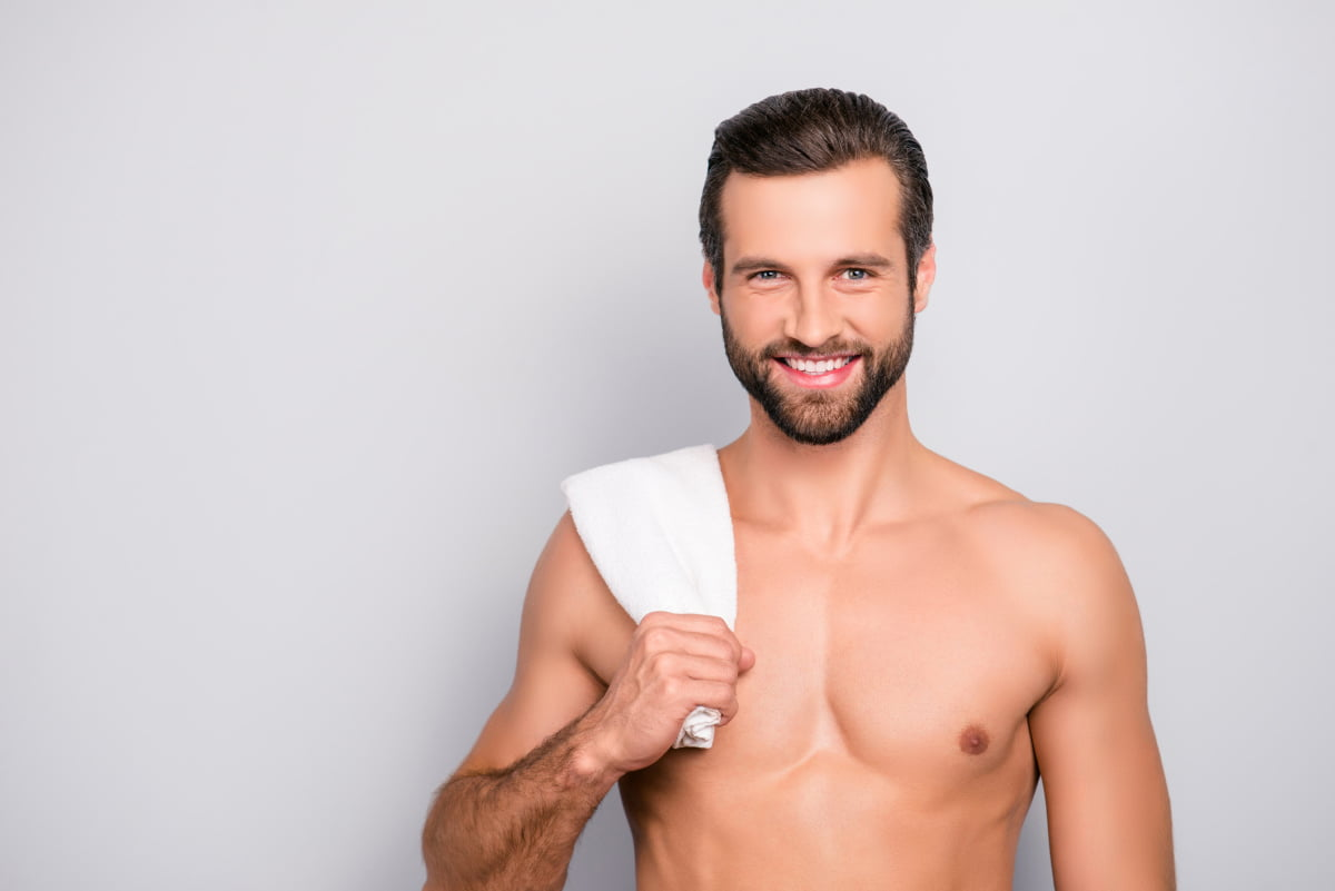 Man Enjoys Smooth Hairless Skin Following Laser Hair Removal